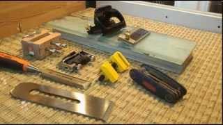 Обзор тележек для заточки стамесок и ножей ручных рубанков