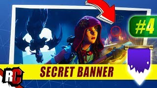 Secret Banner Location WEEK 4 Fortnite | Season 6 Hunting Party (Secret Battle Stars/Banners)