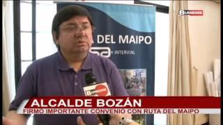 MUNICIPIO Y RUTA DEL MAIPO FIRMARON IMPORTANTE PROTOCOLO