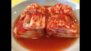 피망배추김치[비타민이 풍부한 시원하고 깔끔한 건강 Bell Pepper Cabbage Kimchi)-CalBab#44