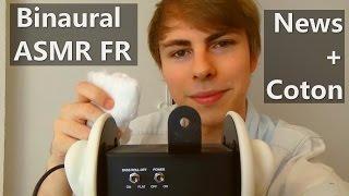 Binaural ASMR FR - Quelques News + Coton sur 3Dio