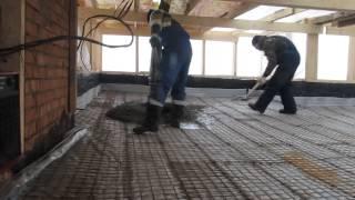 116-13 - Устройство бетонного пола кровля(Поэтапный видеоотчет хода строительства объекта №116. Проект