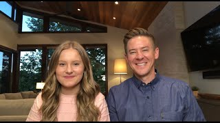 Daddy Daughter Duet - Bridge Over Troubled Water - Simon & Garfunkel Cover - Mat and Savanna Shaw