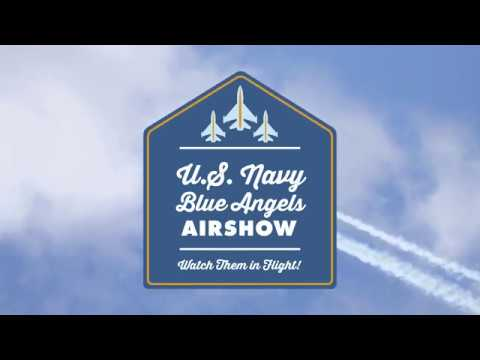 U.S. Navy Blue Angels Airshow Snapshot for The National Cherry Festival
