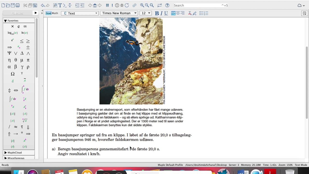 En eksamensopgave omkring basejumper (maj 2007)