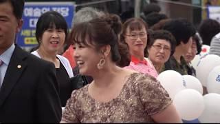 전국TOP 10 가요쇼 레드카펫 미스트롯가수 /지원이.박성연.((정미애 현장스케치 참가소감 인터뷰))