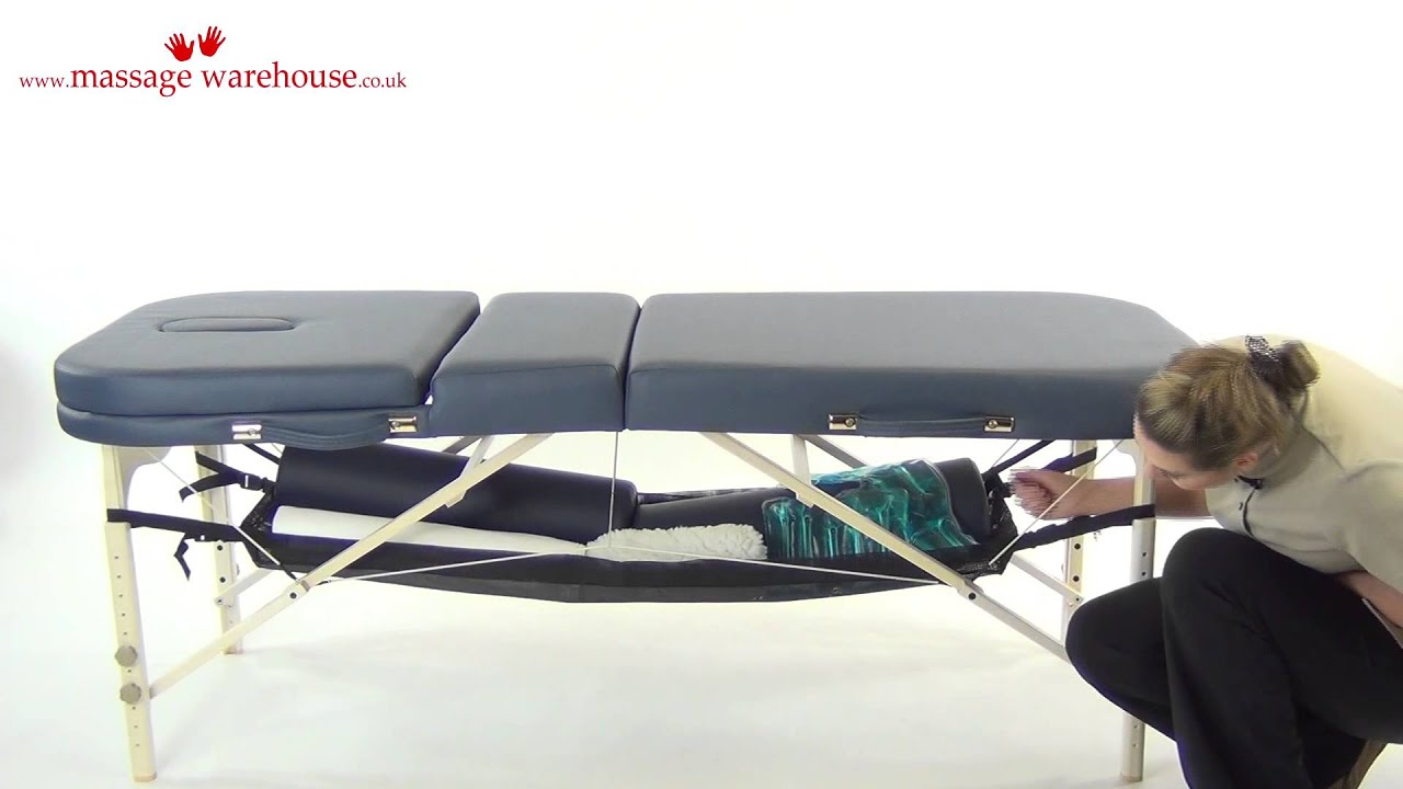 Demonstration Of An Under Table Shelf For Massage Tables From Massage  Warehouse UK
