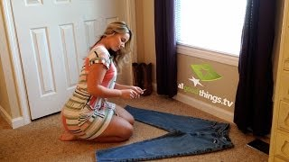 Repeat youtube video Olivia Jensen DIY Distress Jeans