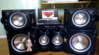 Mini system MX-F870 tocando Bass I Love You