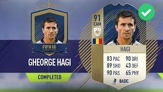 😱 91 'PRIME' ICON HAGI SBC CHEAPEST SOLUTION 😱  - #FIFA18 Squad Builder Challenge Prime Hagi