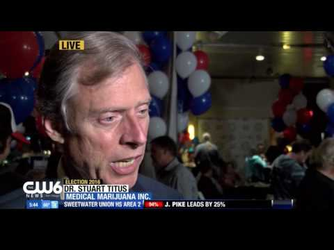 The CW6 News San Diego Features Prop 64 Event in Segment about Election