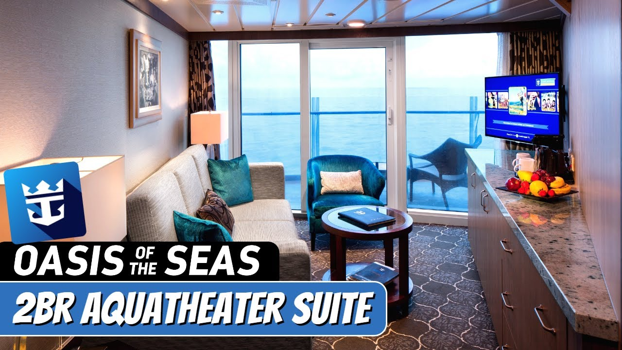 Royal Caribbean Oasis Of The Seas 2 Bedroom Aqua Theater Suite Full Tour Review 4k Youtube