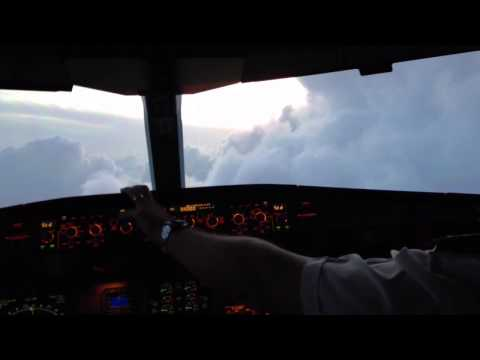 Avoiding weather over West Africa  in an Airbus A330
