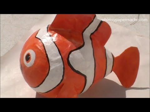 How to Make a  Paper Mache Nemo Clown Fish