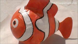 How to Make a Paper Mache Nemo Clown Fish