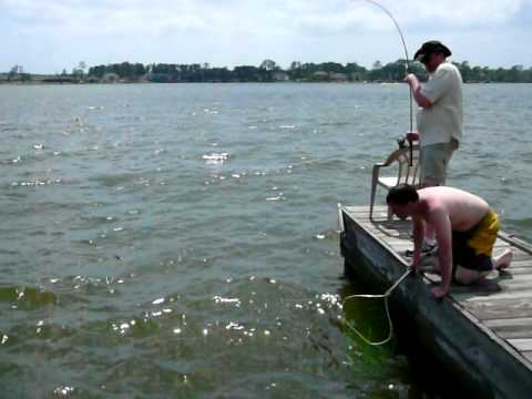 Fishing on lake conroe tx youtube for Lake conroe bass fishing