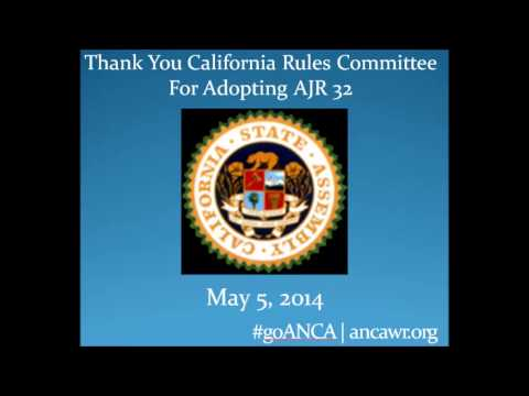 CA Assembly Rules Committee Supports Artsakh Freedom