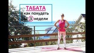 Как похудеть за 3 недели по системе ТАБАТА тренировка 1 из 10
