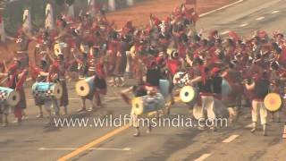 Students perform Sambalpuri folk dance of Odisha