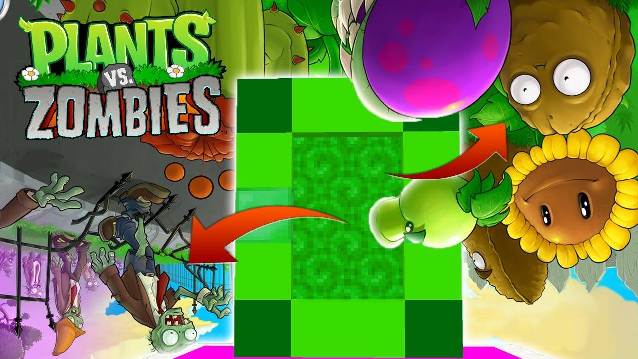 Minecraft dimensi n de no plantas contra no zombies for Como hacer la casa de plantas vs zombies en minecraft