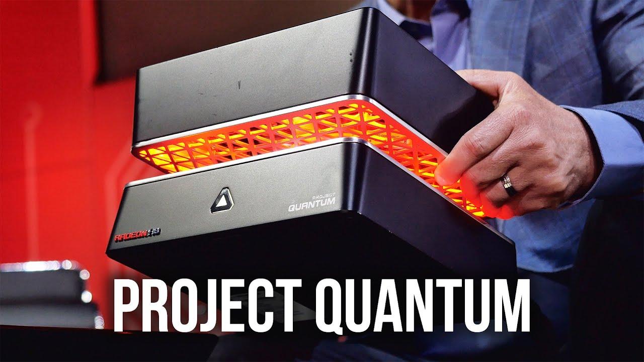 Amd Project Quantum Dual R9 Fiji Hbm Gpus Youtube