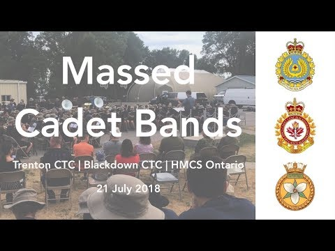 Royal Air Force March Past | Massed Cadet Bands Trenton 2018