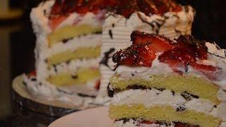 Strawberry Chocolate White Cake