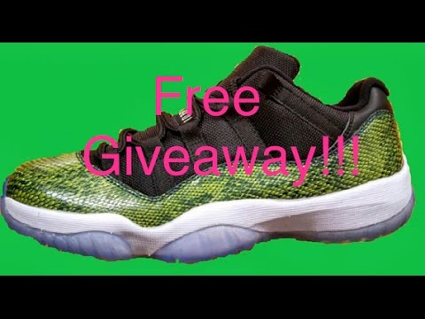 free jordan giveaway free shoes giveaway air jordan 11 snakeskin youtube 3149
