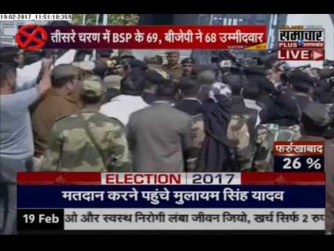 Live & Exclusive: Mulayam Singh Yadav Cast his Vote in Saifai