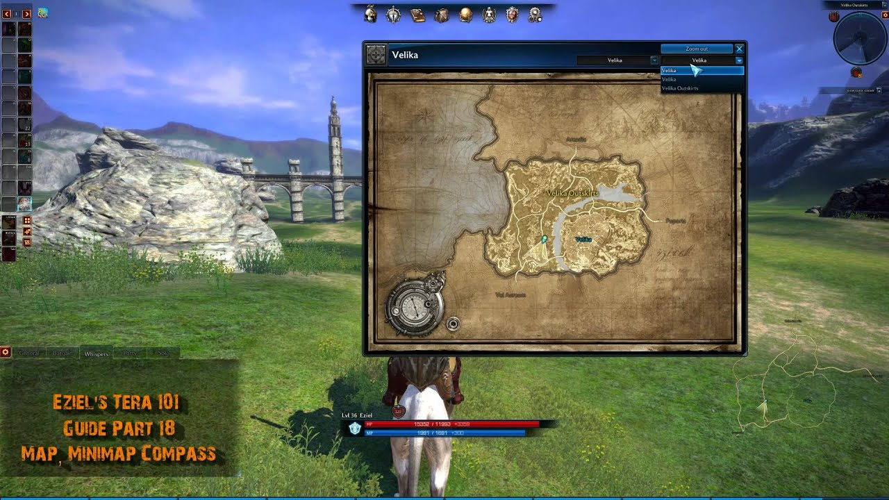 eziel s tera 101 guide part 18 map minimap and pass youtube