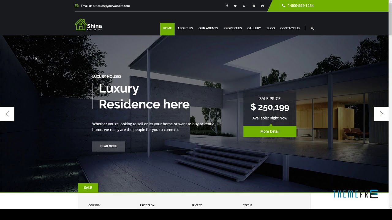 Shina wordpress inmobiliaria