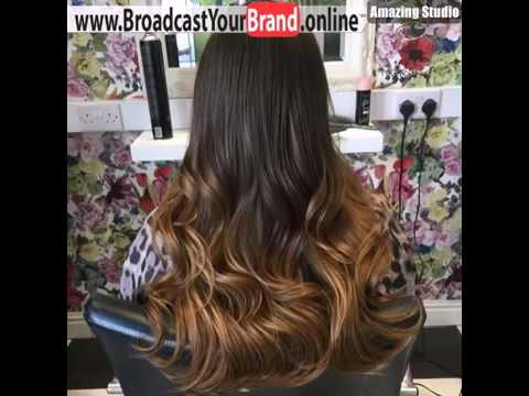 Long Dark Brown To Light Brown Ombre Hair Style Youtube