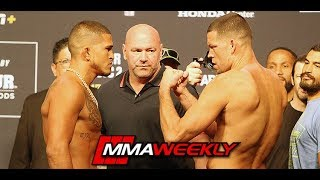 UFC 241 Ceremonial Weigh-Ins: Nate Diaz vs Anthony Pettis