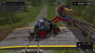Farming Simulator 17 P3 Selling some logs (link in description for complete logging guide)