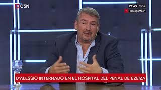 Marcelo D'Alessio fue internado en el hospital del penal de Ezeiza