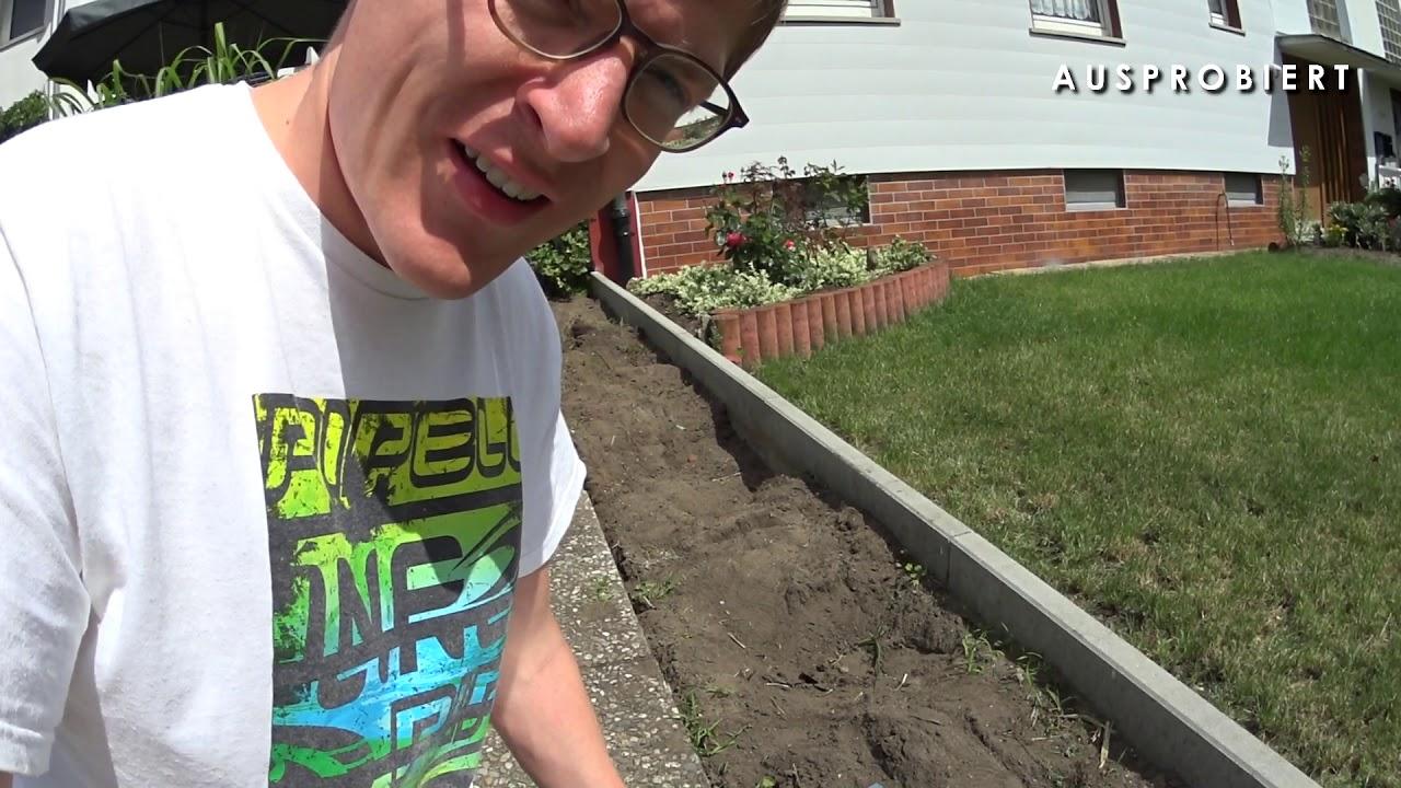 Sehr Metall Rasenkante verlegen - YouTube HT81