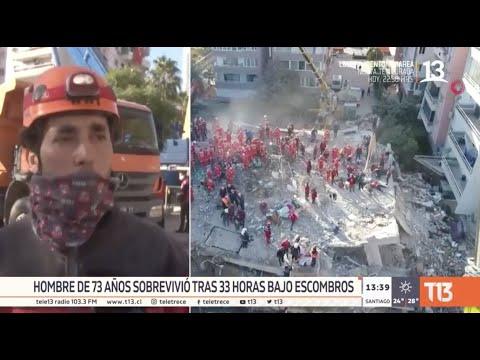 Terremoto en Turquía: Rescatan a hombre de 70 años que pasó 33 horas bajo los escombros