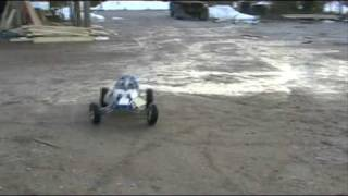 Rc Cross Car with chainsaw engine