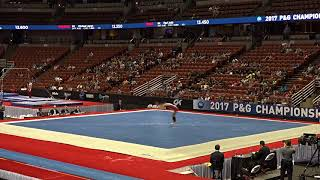 David Willett - Floor - 2017 P&G Championships - Junior Men - Day 2