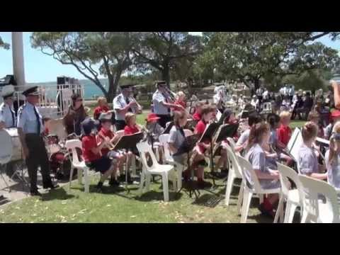 Fire & Rescue NSW Band and Marching Team - Balmoral Rotunda 2015