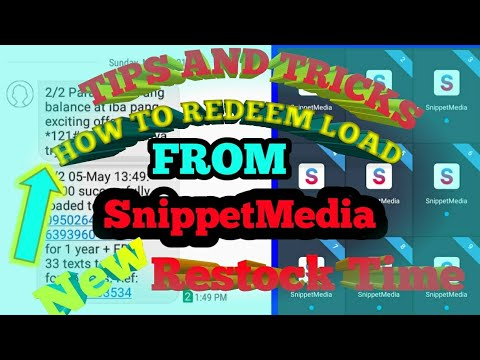 HOW TO REDEEM LOAD TIPS AND TRICKS BY SnippetMedia 2019 | Restock Time