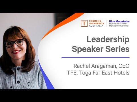 BMIHMS Leadership Speakers Series, Rachel Aragaman, CEO TFE, Toga Far East Hotels