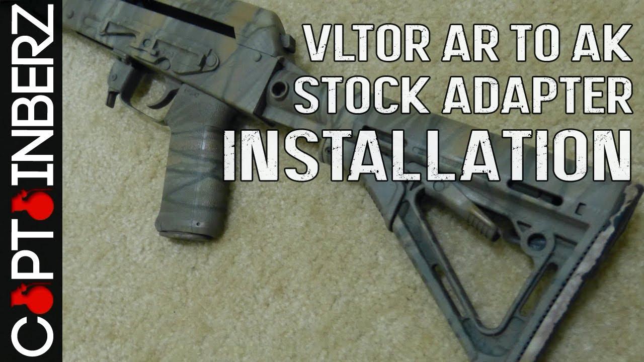 VLTOR AR to AK Stock Adapter Installation (RE-47)