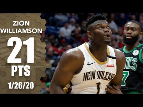 Zion Williamson records double-double in Celtics vs. Pelicans | 2019-20 NBA Highlights
