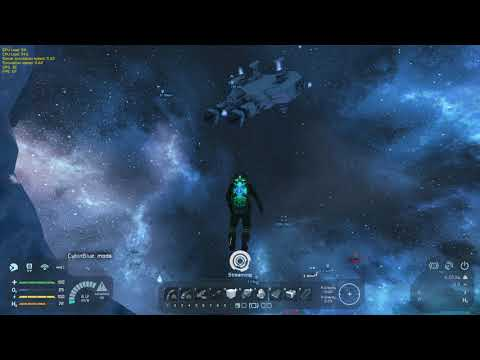 Space Engineers   Small Mining Ship and Ore Detector Drone #Showcase - Space-Engineers.DE server