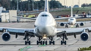 Fast BOEING 747 DEPARTURE with a SMOKING ENGINE (4K)
