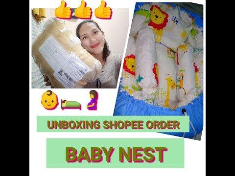 UNBOXING SHOPEE ORDER || BABY NEST REVIEW || NEWBORN ESSENTIALS/ HAUL PART 2