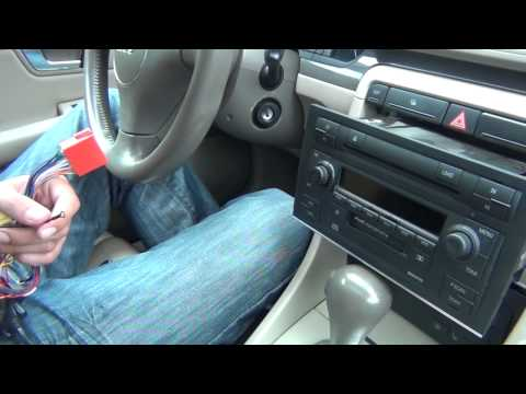 gta-car-kits---audi-a4-2002-2005-install-of-iphone,-ipod-and-aux-adapter-for-symphony-stereo