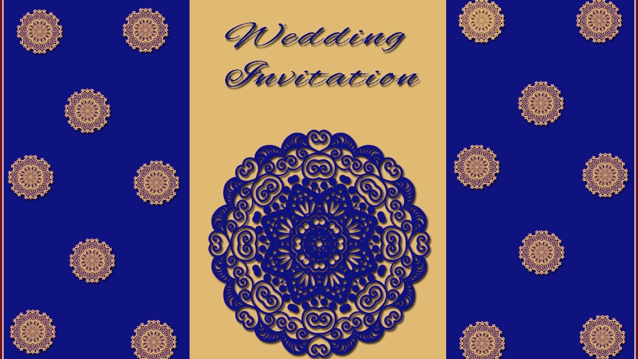 How To Design A Wedding Invitation Card In Photoshop In Tamil With