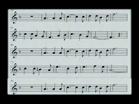 O Holy Night melody Sheet music
